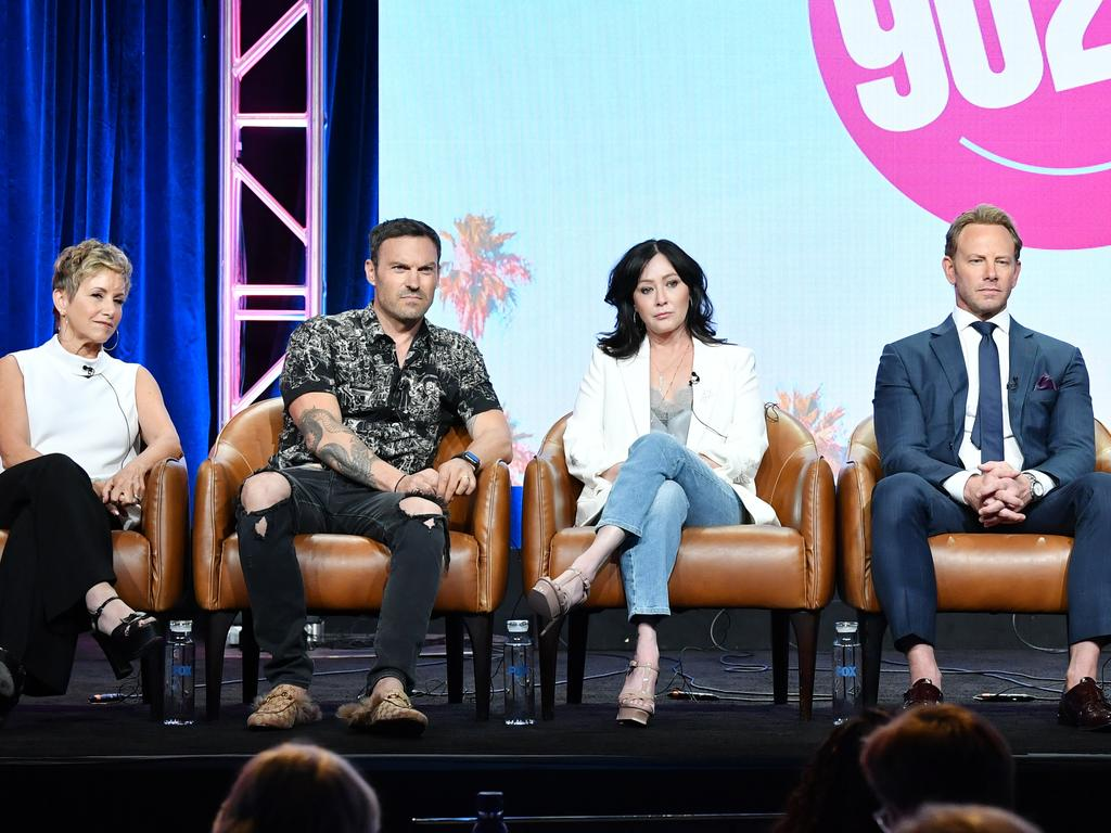 Shannen Doherty says Brian Austin Green was the only Beverly Hills, 90201 cast member that knew about her cancer returning. Picture: Getty