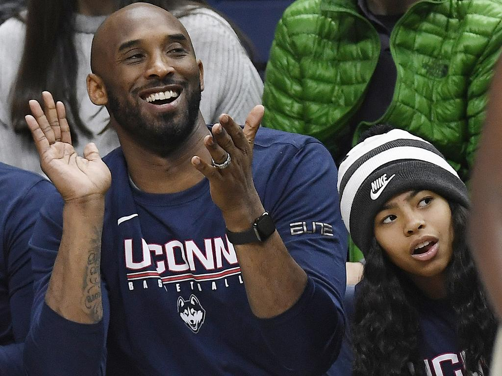 Kobe and Gianna Bryant died, along with seven others, in a helicopter crash on January 26. Picture: AP