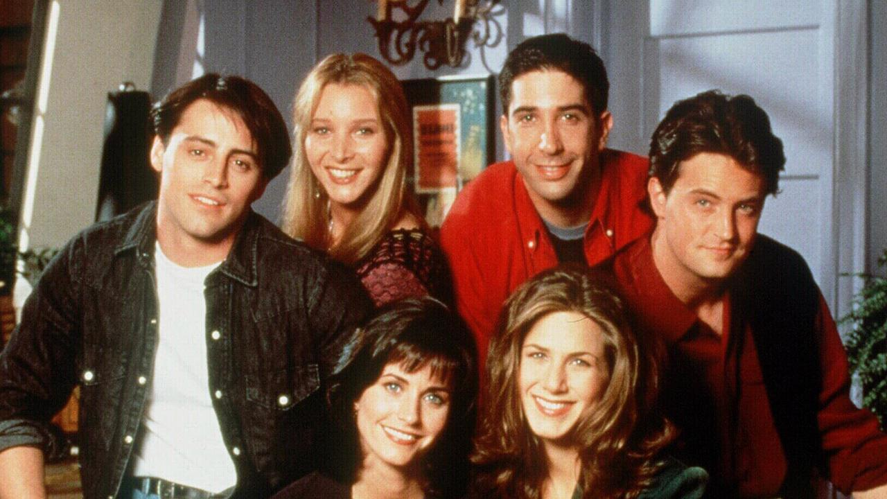 The Friends cast in a 1996 promo shot. Picture: Supplied