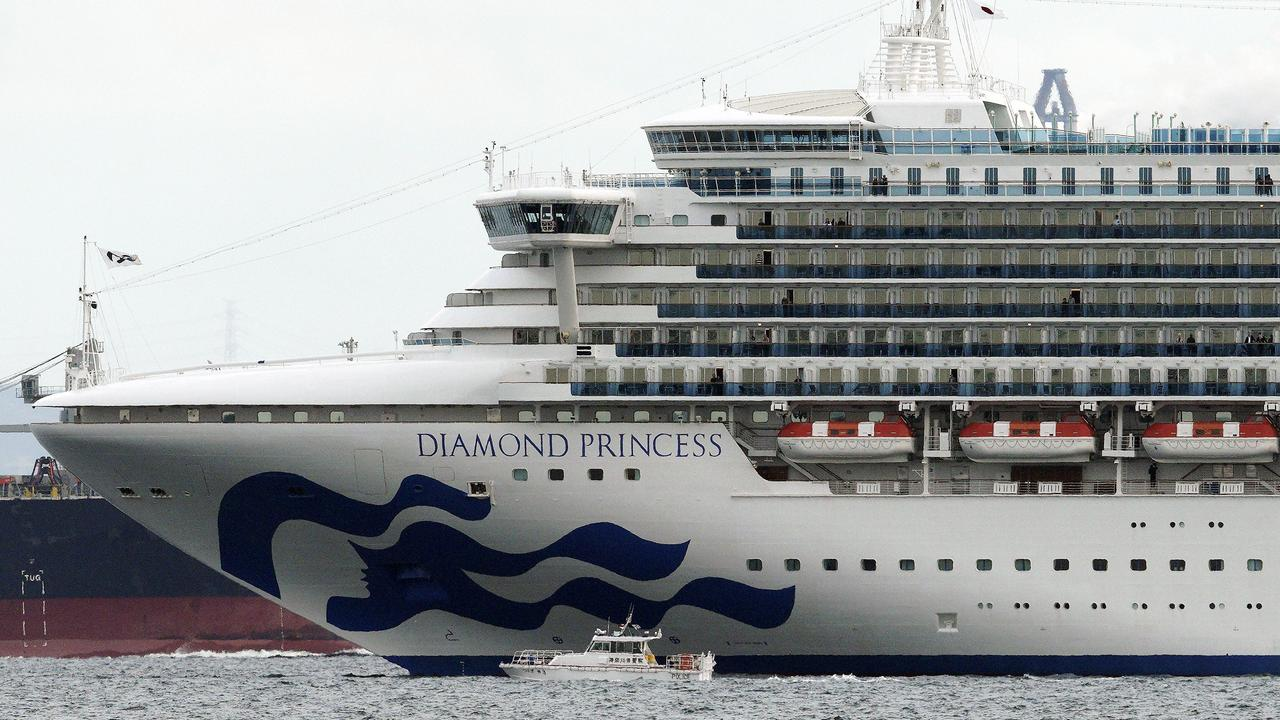All 3700 passengers and crew on the Diamond Princess cruise ship have been quarantined after 10 people tested positive for coronavirus. Picture: AP/Eugene Hoshiko