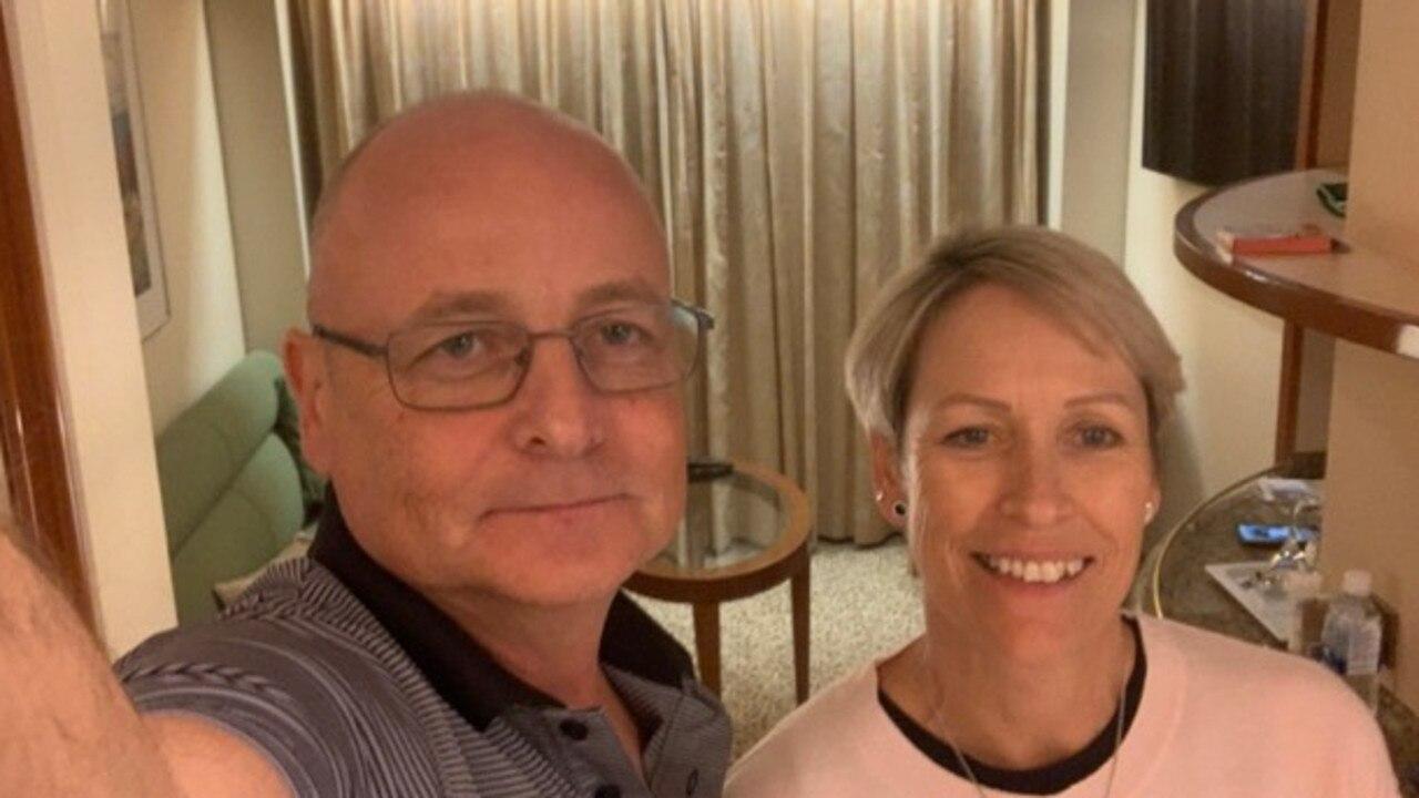 Paul and Jacqueline Fidrmuc on board the Diamond Princess cruise ship, which was quarantined off Japan due to coronavirus