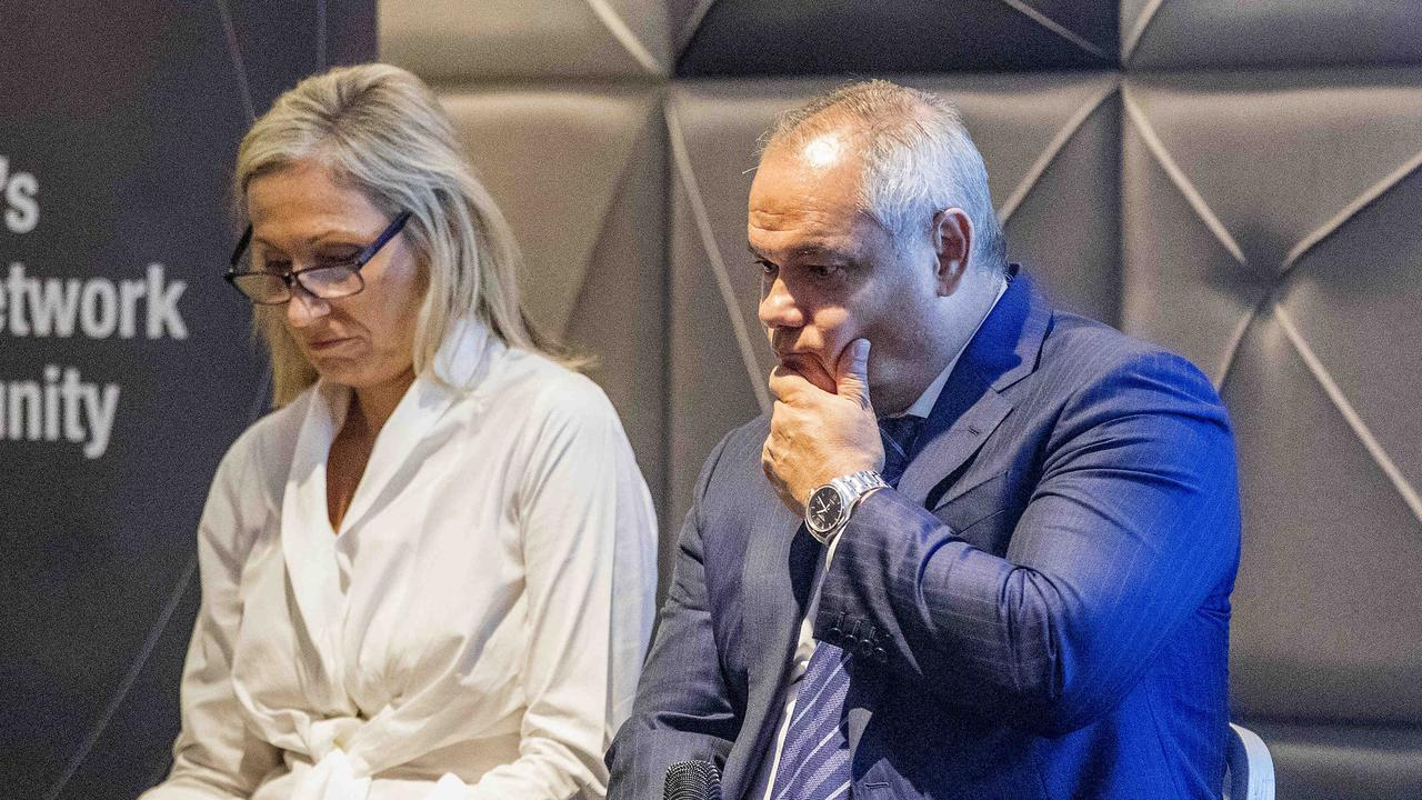 Mayoral debate between Tom Tate and Mona Hecke at a UDIA lunch at the Hilton in Surfers Paradise. Picture: Jerad Williams