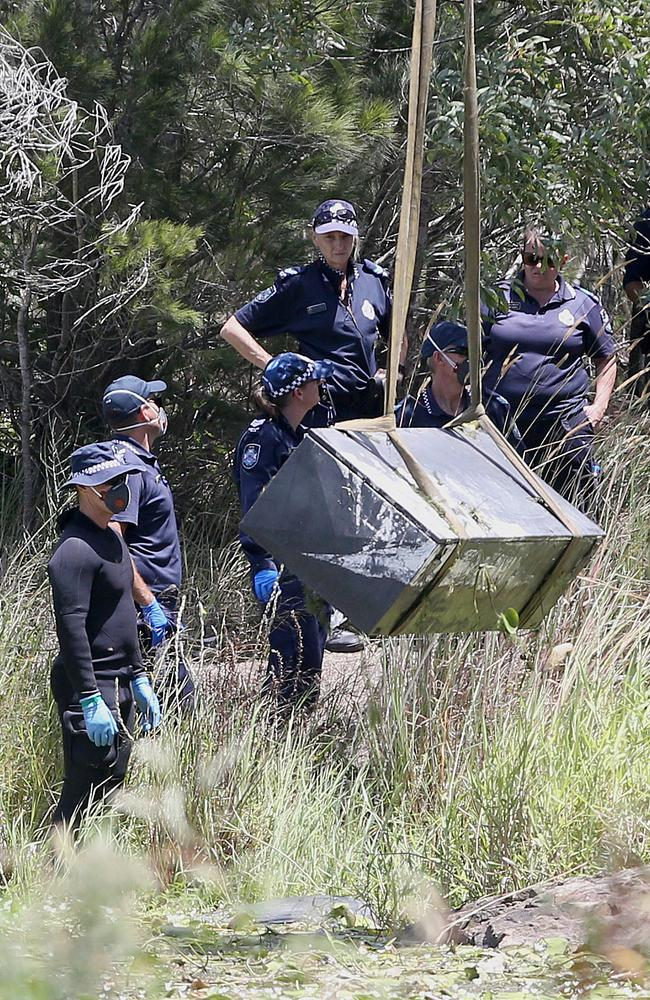 The toolbox was found two days after the alleged murders. Picture: Jono Searle.