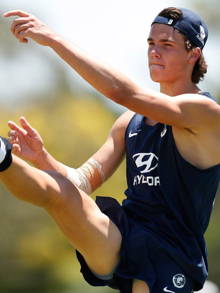 Ben Silvagni is preparing for his second season at Carlton.