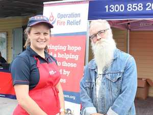 Bushfire victim calls out bad language