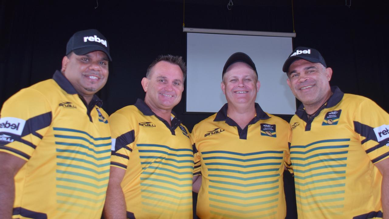 LEAGUE LEGENDS: Leo Dynevor, Craig Teevan, Troy Byers and Sid Domic. Picture: Tristan Evert
