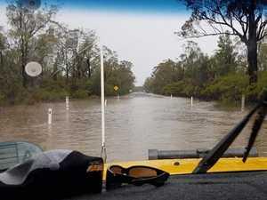Rainfall floods roads south of Chinchilla