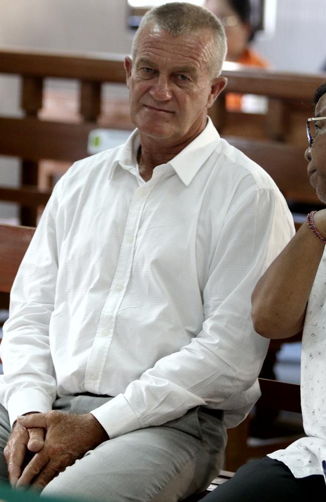 Australian man Ricky Shane Rawson pictured in Denpasar District Court today. Picture. Lukman S. Bintoro