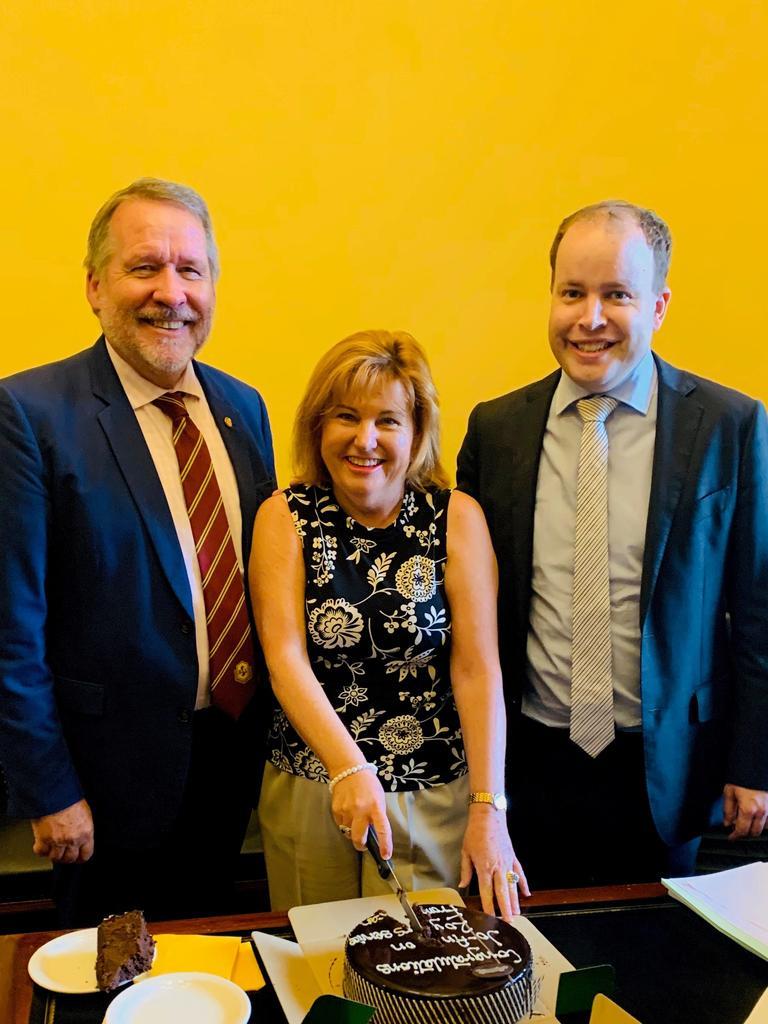 MPs Jim Madden, Jo-Ann Miller and Duncan Pegg.