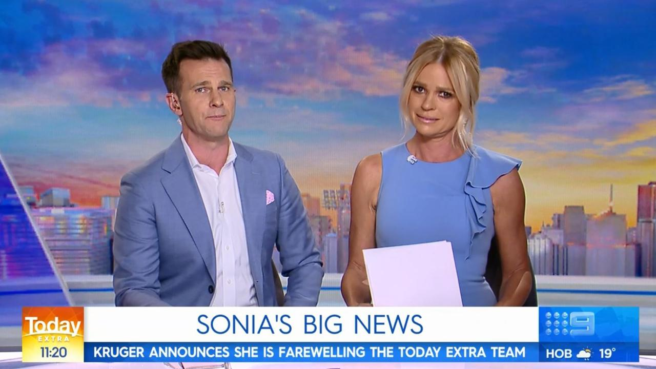 Sonia Kruger announced she was leaving the Today show in November 2019. Picture: Today Extra