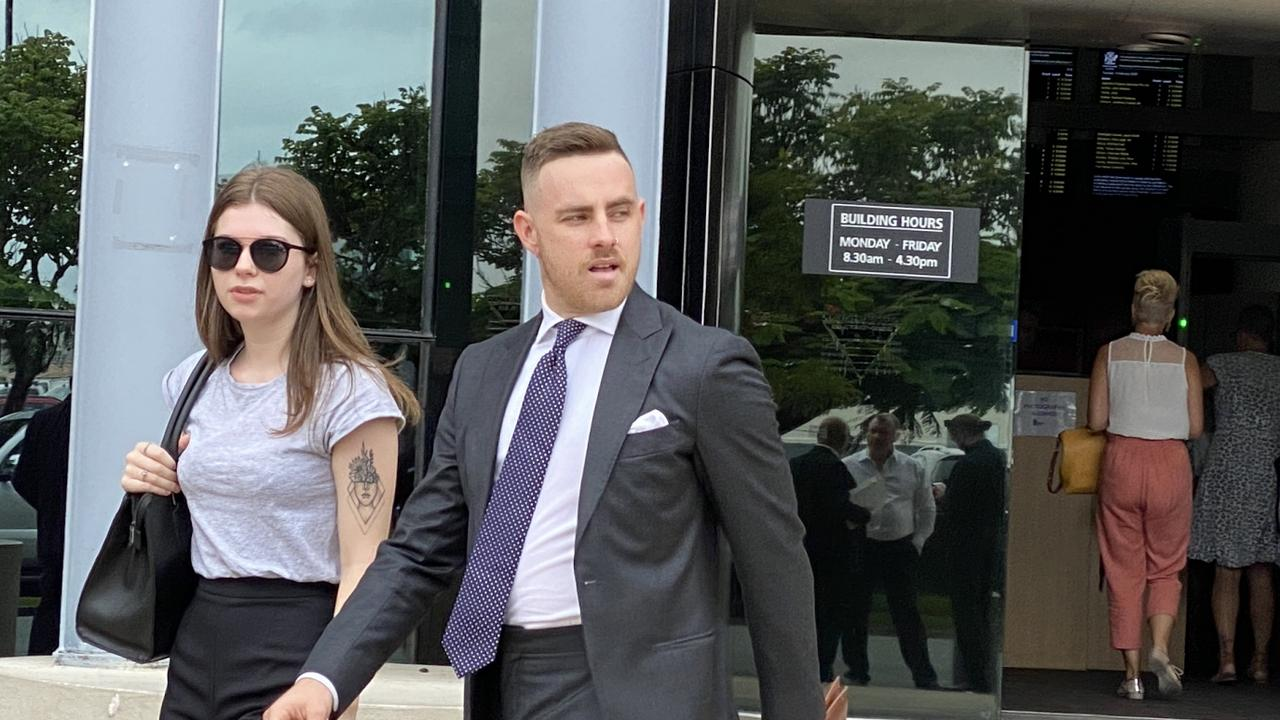 Jayden Kale Gillen leaves Southport Magistrates Court. Picture: Lea Emery