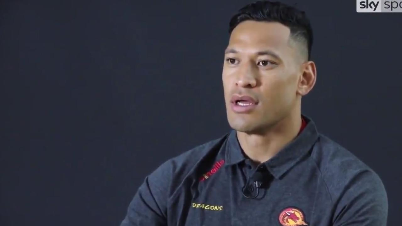 Israel Folau speaks with Sky Sports following his move to Catalans.