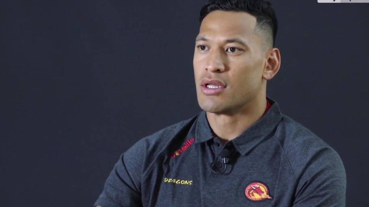 Israel Folau in a Catalan Dragons shirt.