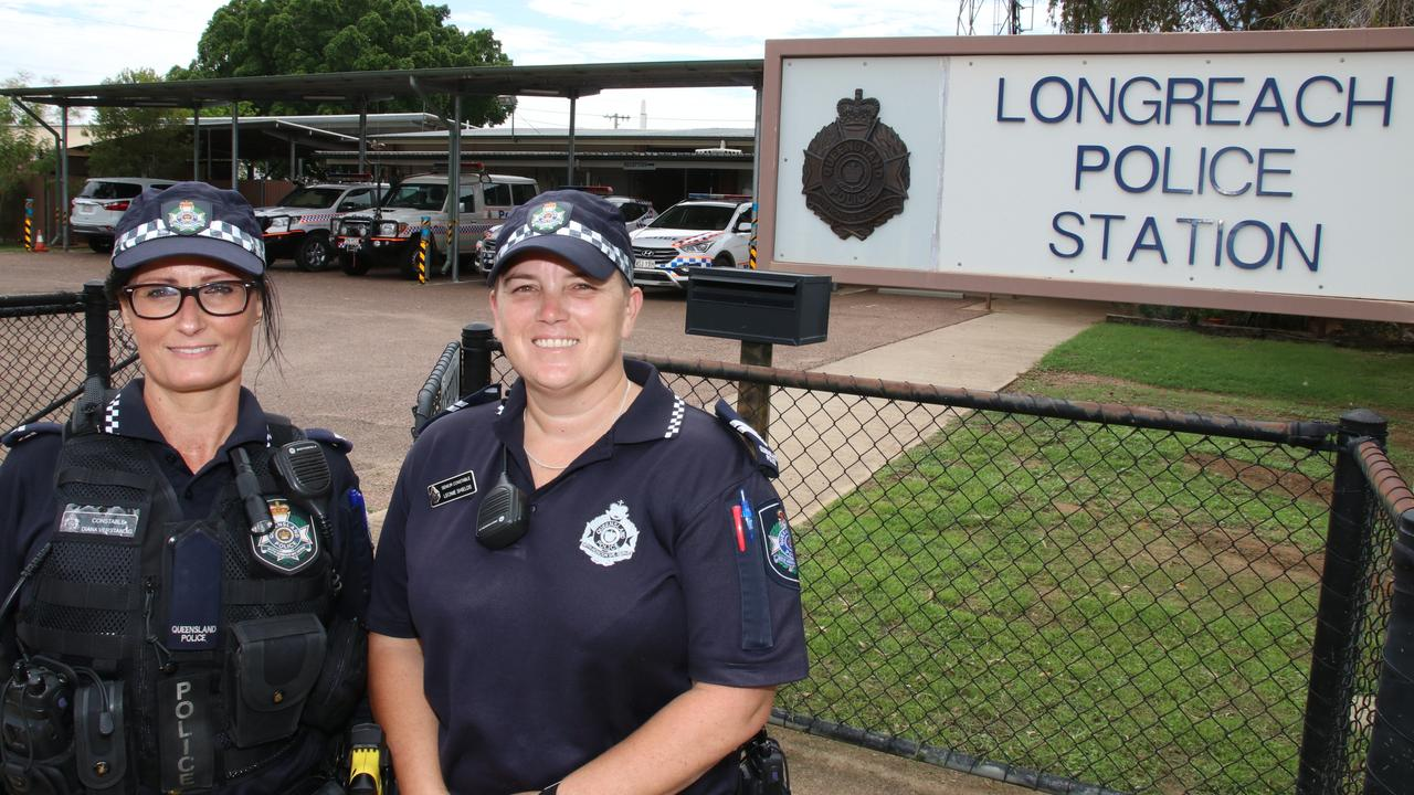 HEROES: Constable Diana Verstanding and Senior Constable Leonie Shields at Longreach Police Station. Picture: Contributed