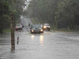 Flash flooding starts in the Clarence Valley