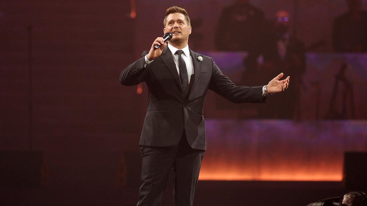 Michael Buble is touring Australia for the first time in six years, beginning at the Brisbane Entertainment Centre on Tuesday. Picture: AAP image, John Gass