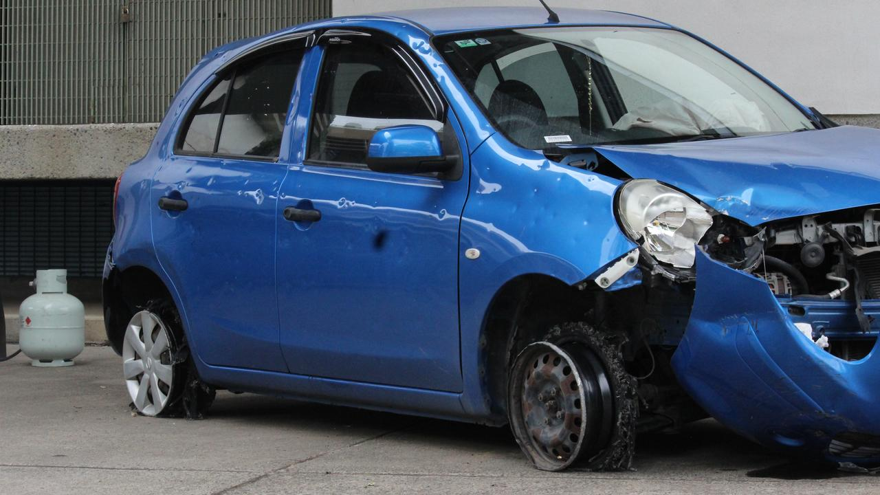 A driver allegedly continued to evade police after having two tires blown by road spikes.