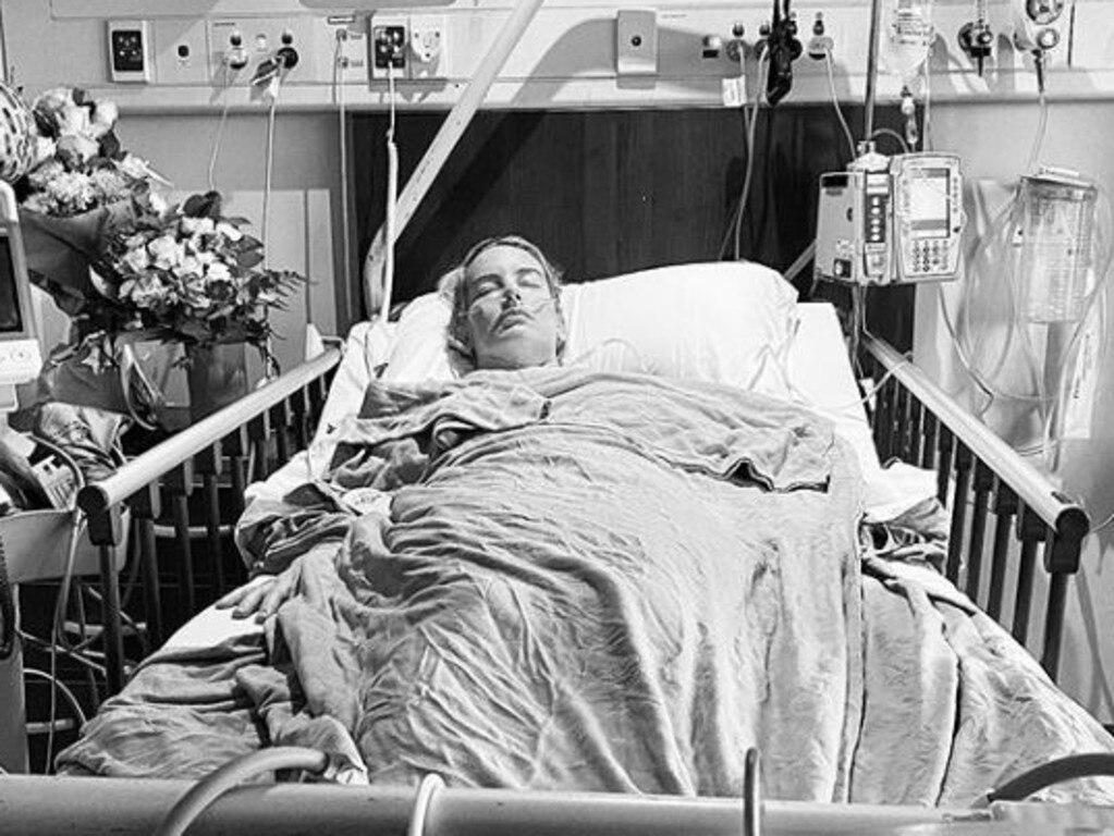 Samantha Wills in hospital. Picture: Samanthawills/Instagram