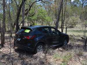 Abandoned car crash on Gayndah Mundubbera Rd