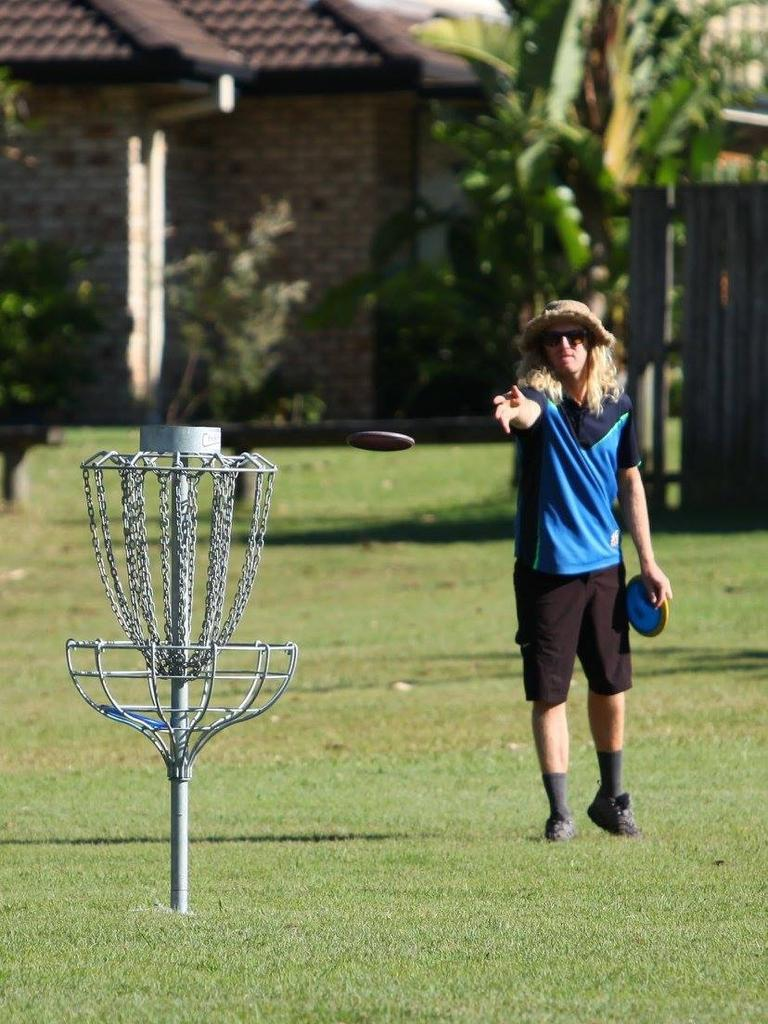 Co-founder of Sunshine Coast Disc Golf Club, Adam Lowe gets in some practice.