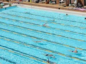 New members enjoy cool waters in the pool