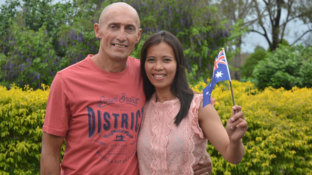 NEW CITIZEN: Tony and Chona Dawson celebrated Chona's New Australian citizenship, after she her official ceremony on Australia Day. Photo: Ebony Graveur