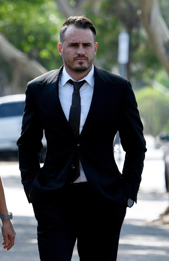 Wests Tigers NRL player Josh Reynolds arrives at Sutherland Local Court in Sydney. Picture: AAP
