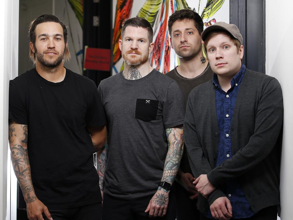 Fall Out Boy. Picture: AAP