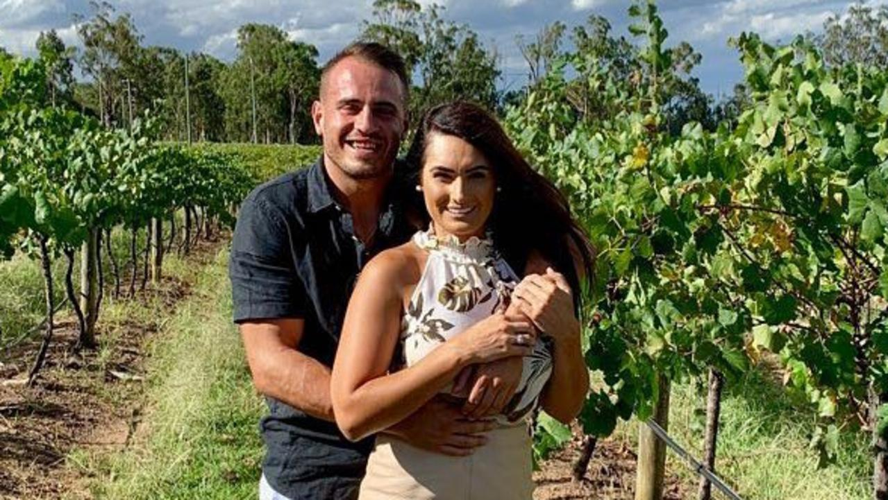 Josh Reynolds with former partner Arabella del Busso. Picture: Instagram