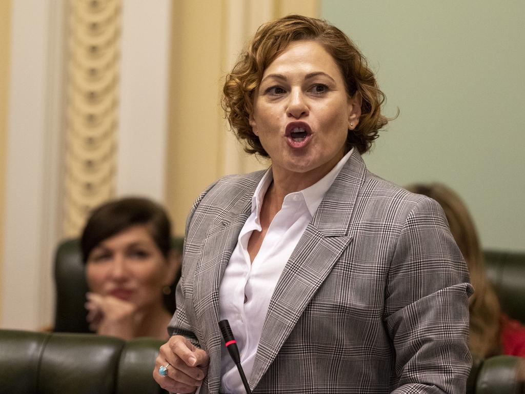 Treasurer Jackie Trad in Question Time this week. Picture: Glenn Hunt/AAP