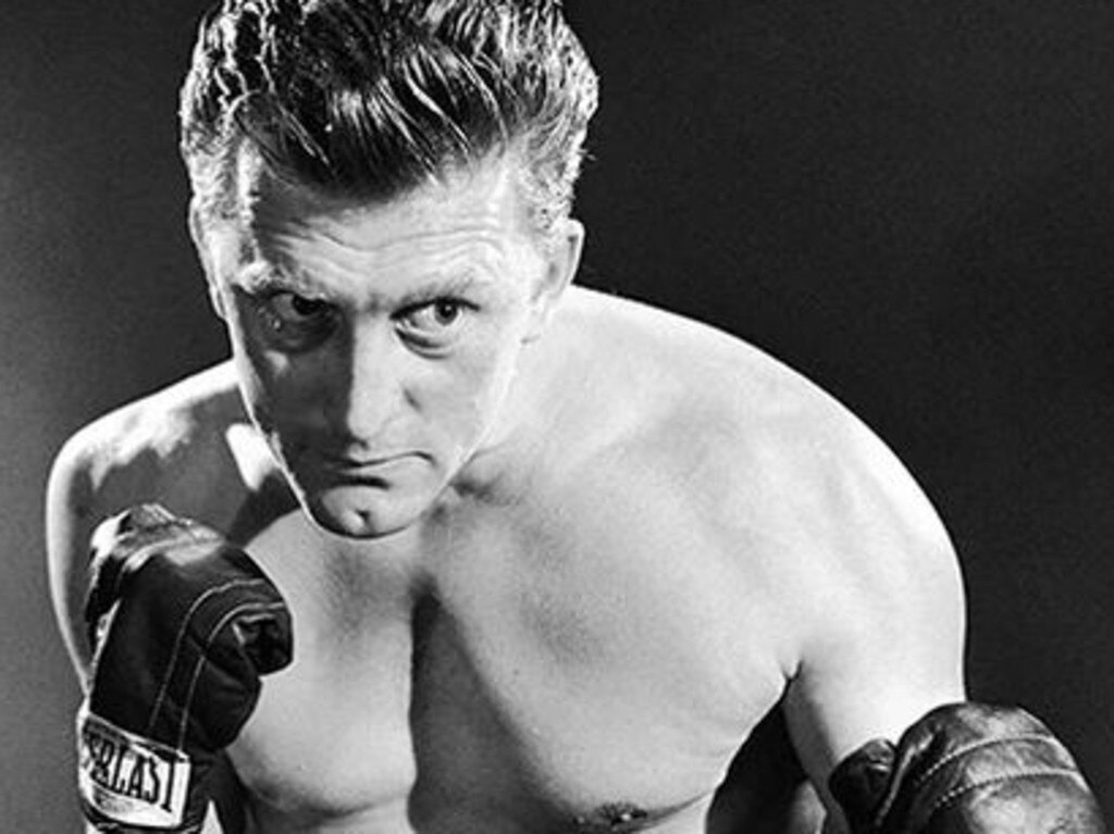 Kirk Douglas in Champion the star scored his first Oscar nomination for his role as a down and out boxer. Picture: Getty Images