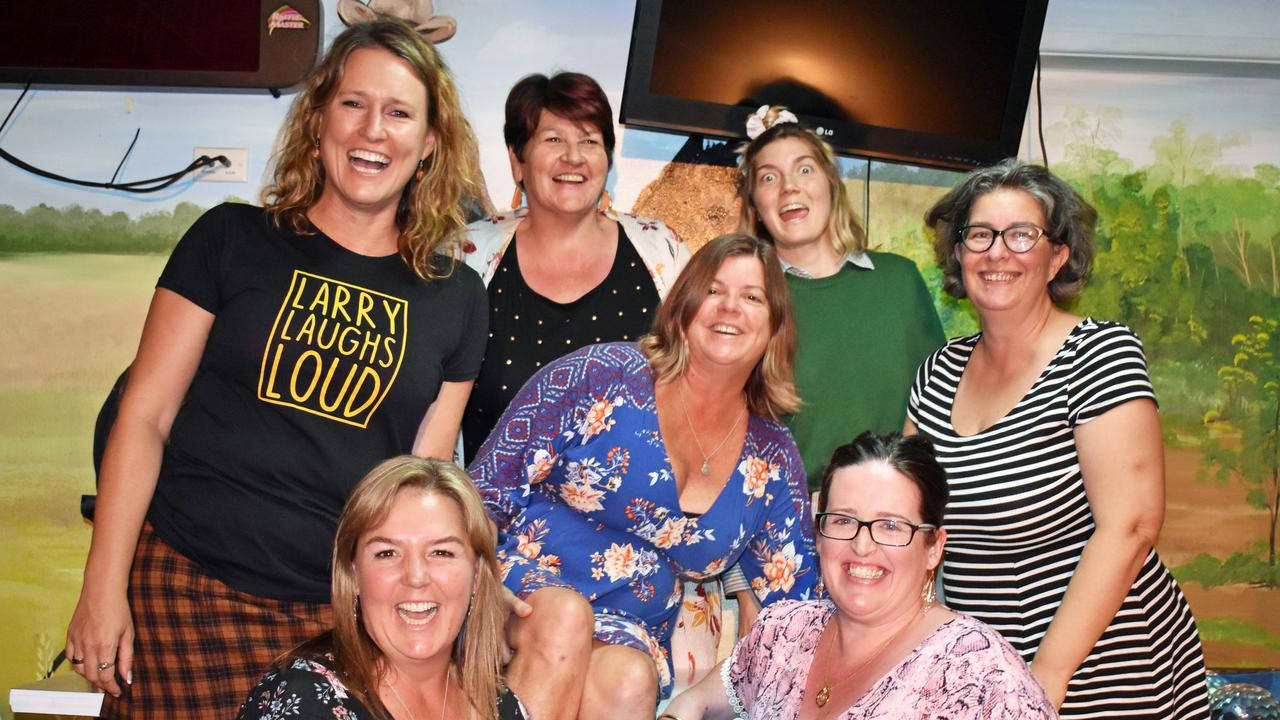 All female comedian line up at the Kyogle Bowling Club featuring host Vanessa Larry Mitchell from Larry Laughs Loud comedy, Coral Sugar, Helen Sager, Lisa Sharpe, Grace Hogan, Kate Chetsworth and Kyogle's Odette Nettleton. PIC : Susanna Freymark