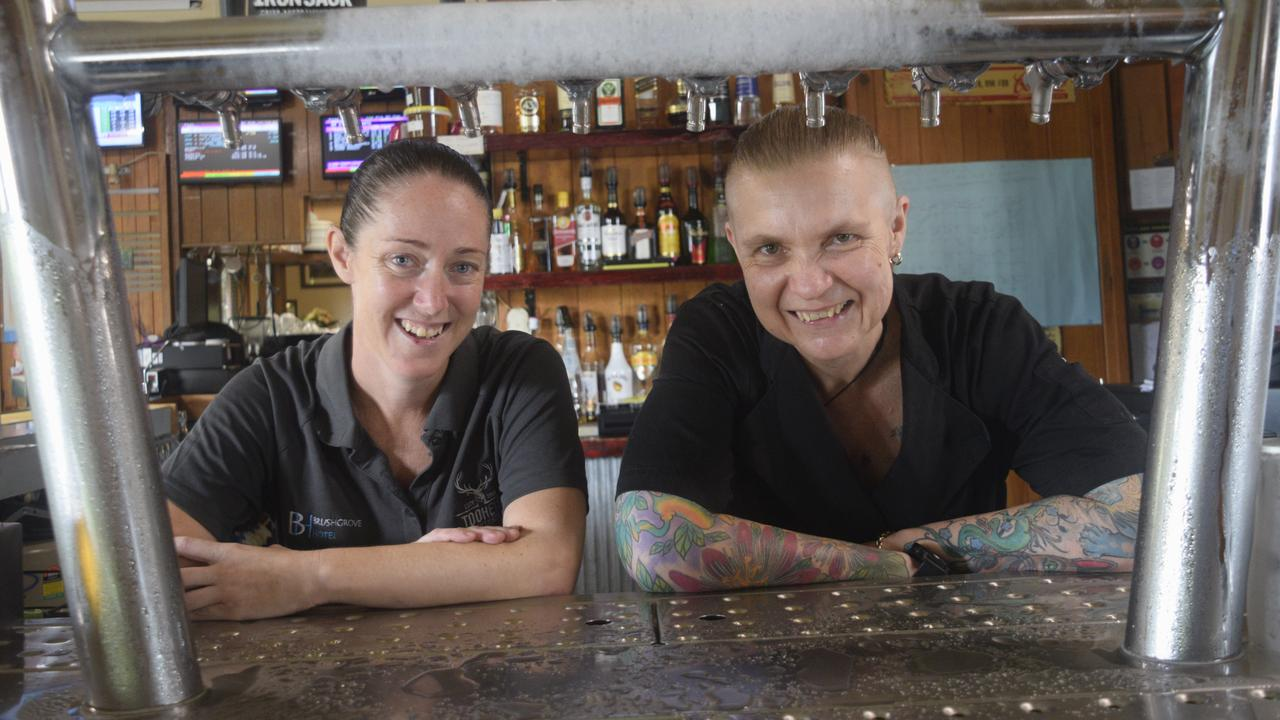 CHEERS: Brushgrove Hotel manager Tanya Stephenson and head chef Tina Kelly are glad for the pub to be named the Clarence Valley's favourite.