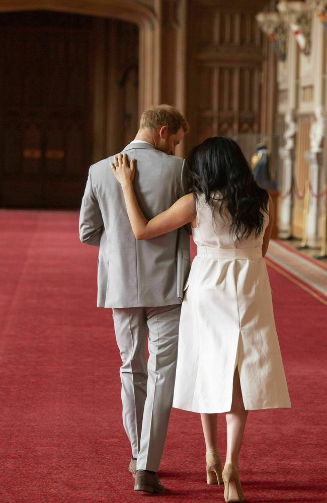 Prince Harry and Meghan have turned their backs on the royal family. Picture: AP