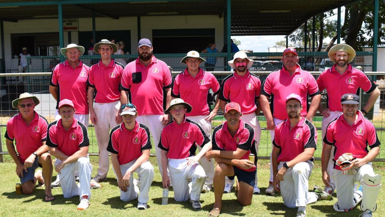 PINK: The 2019 seniors team.