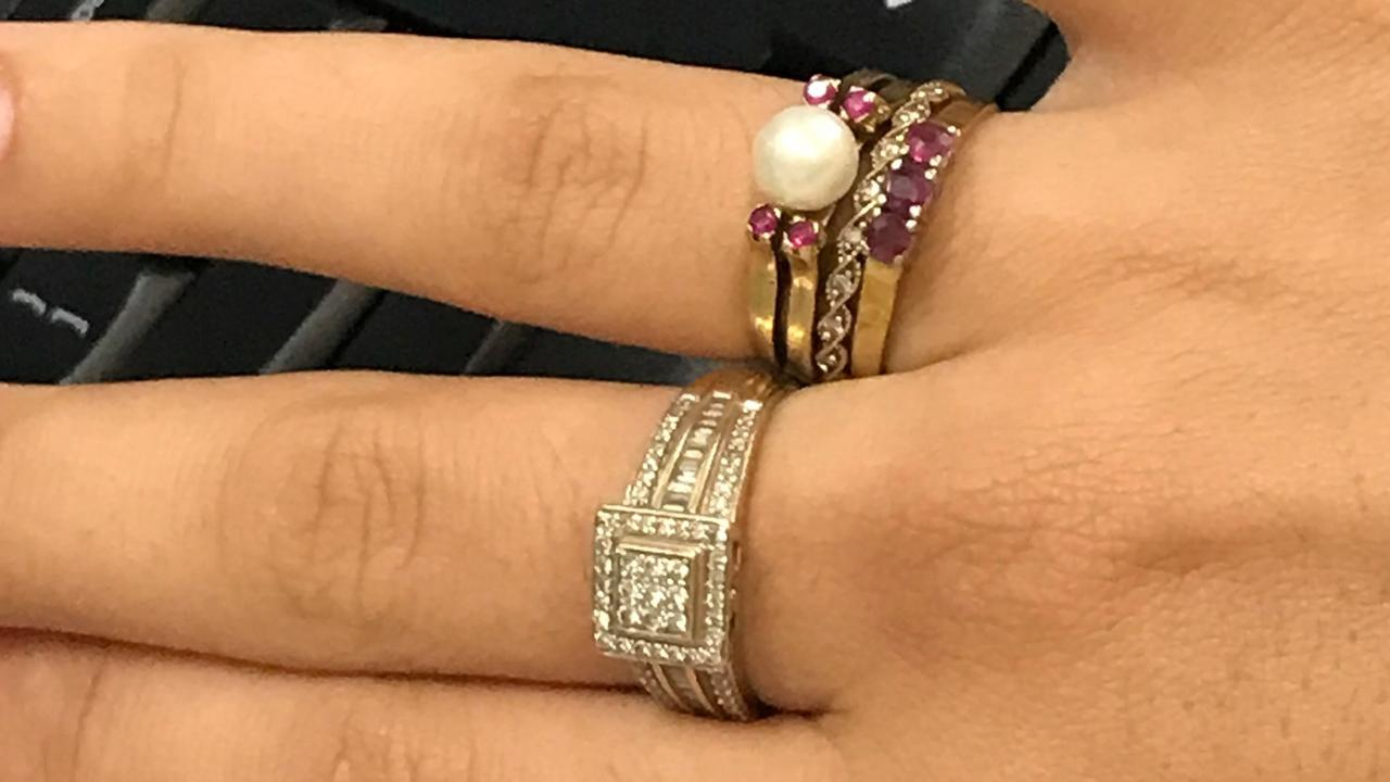 Her mother's pearl ring and her grandmother's ruby eternity ring were stolen during the break-in. Picture: Supplied