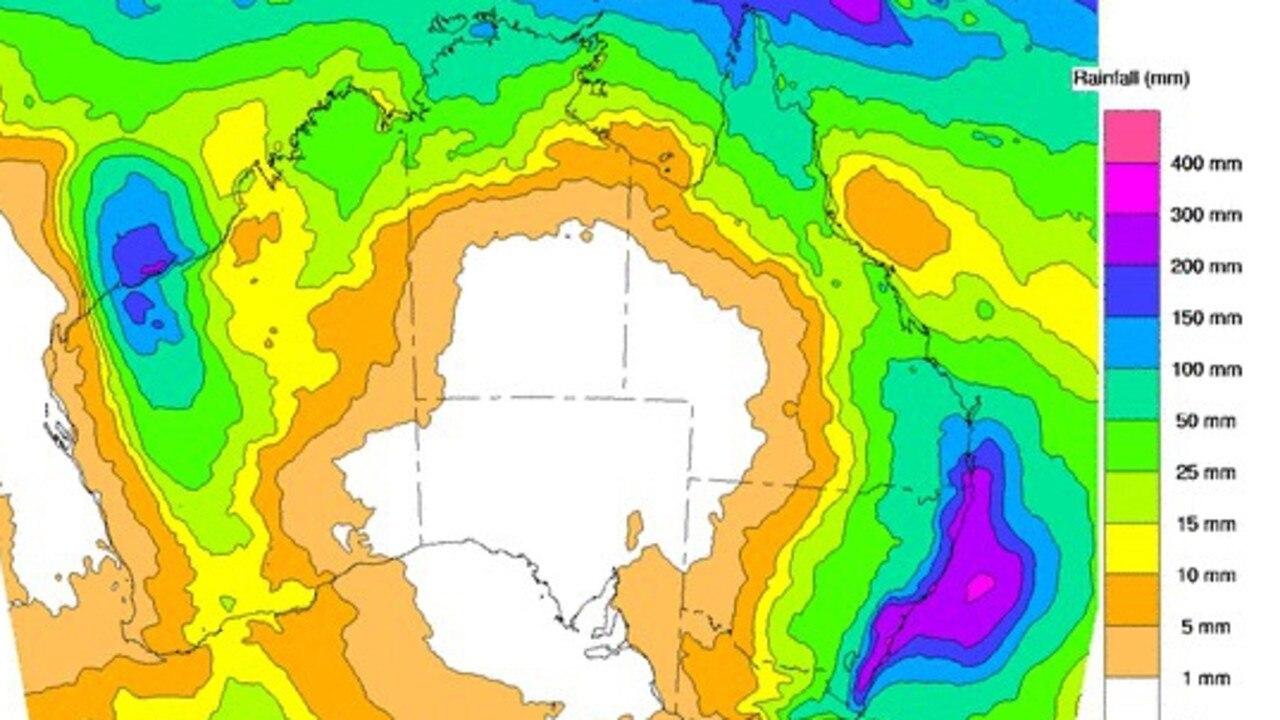 Rain forecast until February 14.