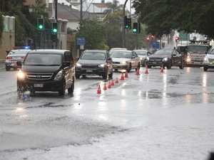Flash flooding blocks major Brisbane roads