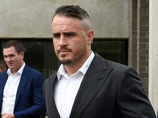 Josh Reynolds leaves Sutherland Local Court.