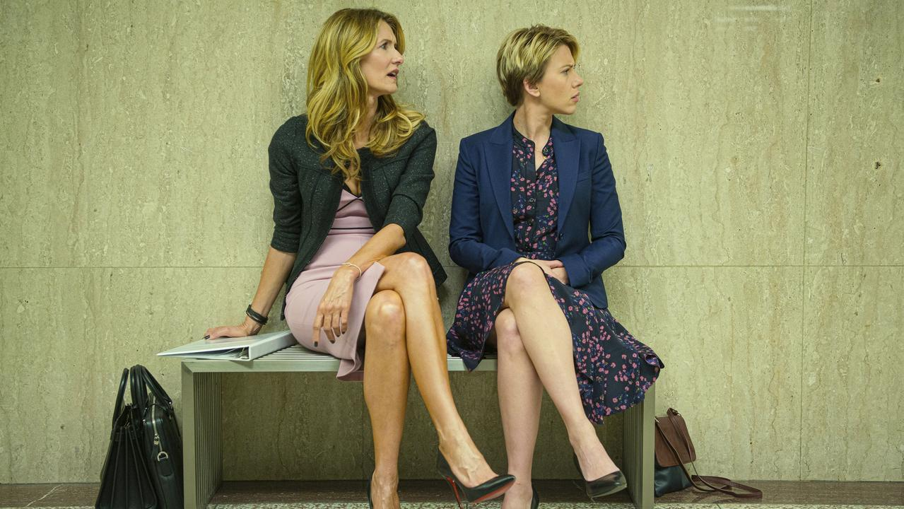 Laura Dern, left, and Scarlett Johansson in Marriage Story. Picture: Netflix via AP