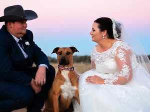 Twins on the way after country-style wedding