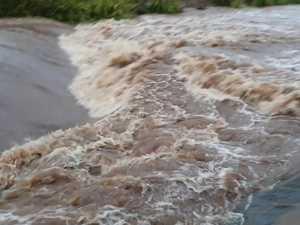 Rain swells West Creek