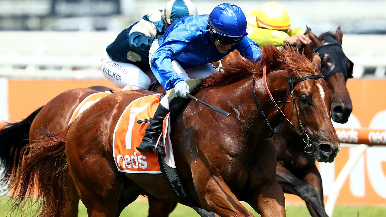Luke Currie steers Hanseatic to victory in the Blue Diamond Colts Prelude. Picture: Getty Images