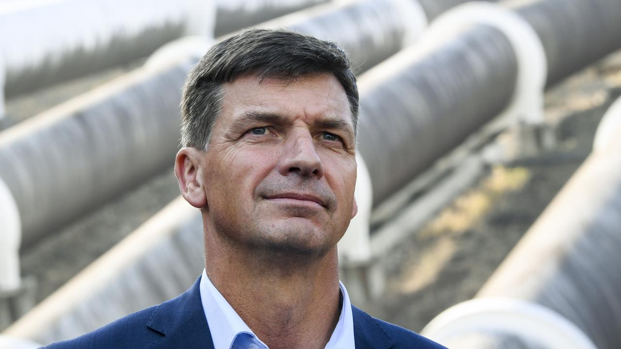 Energy Minister Angus Taylor is ramping up investment in new electricity generation projects in north and central Queensland, offering the Morrison Government's strongest support yet for a new coal-fired power plant. (AAP Image/Lukas Coch) NO ARCHIVING