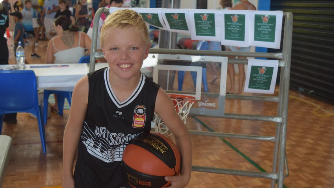 Lucas Purdie, 9, wants to start up a basketball league in the Whitsundays. Image: Laura Thomas