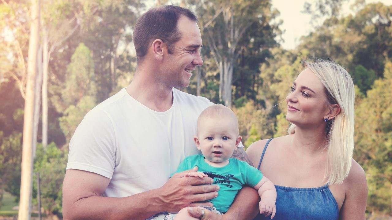 Amanda Lawton has found joy with her husband Dave and son Bobby. Picture: Supplied