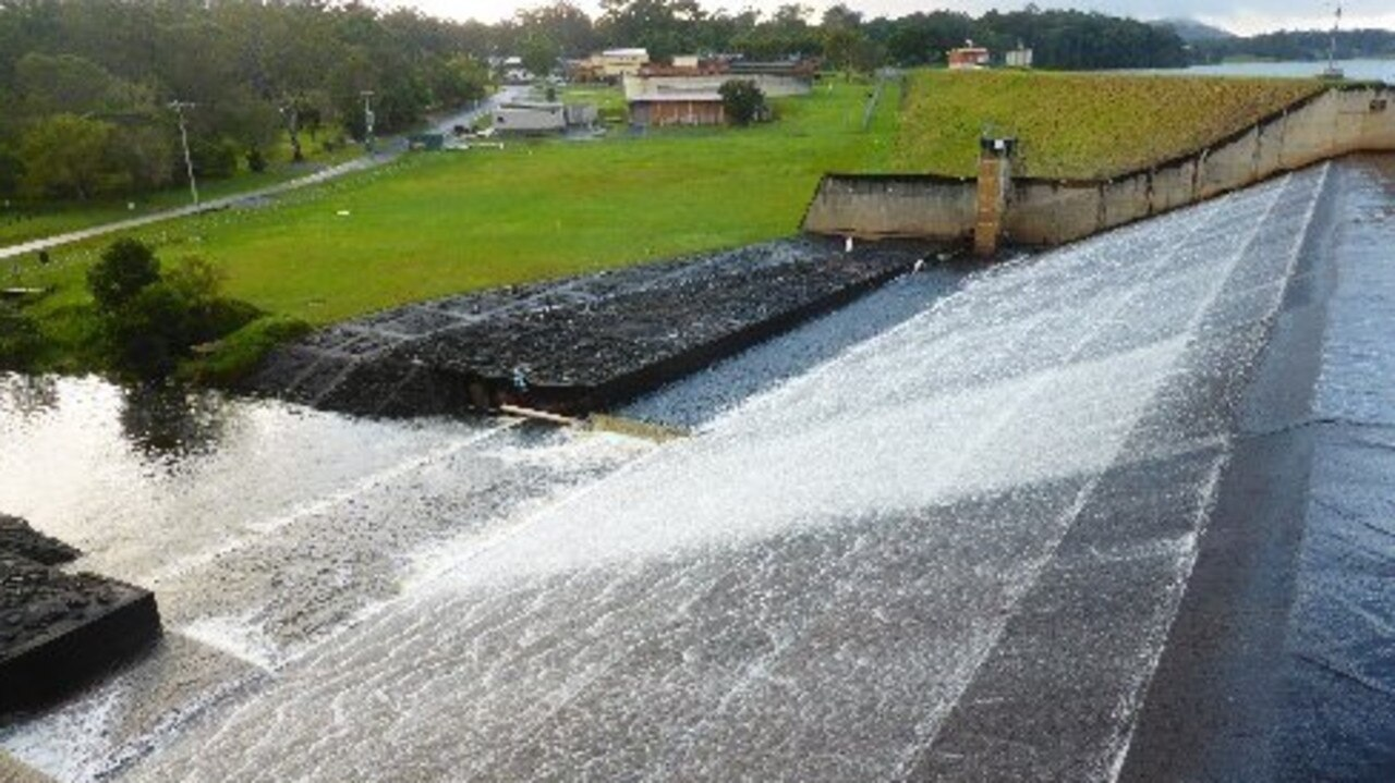 Lake Macdonald spillway is overflowing once more.