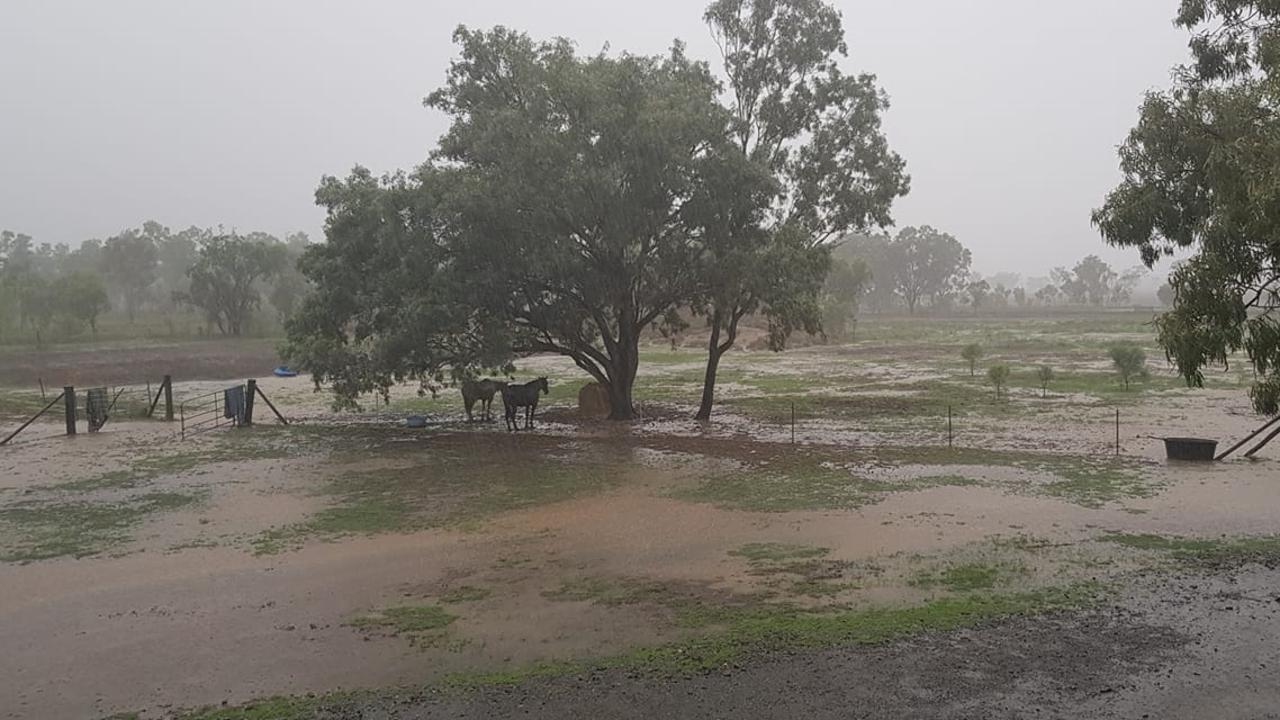 GOOD RAIN: Tania Brannock sent this view of the rain from Midgee.