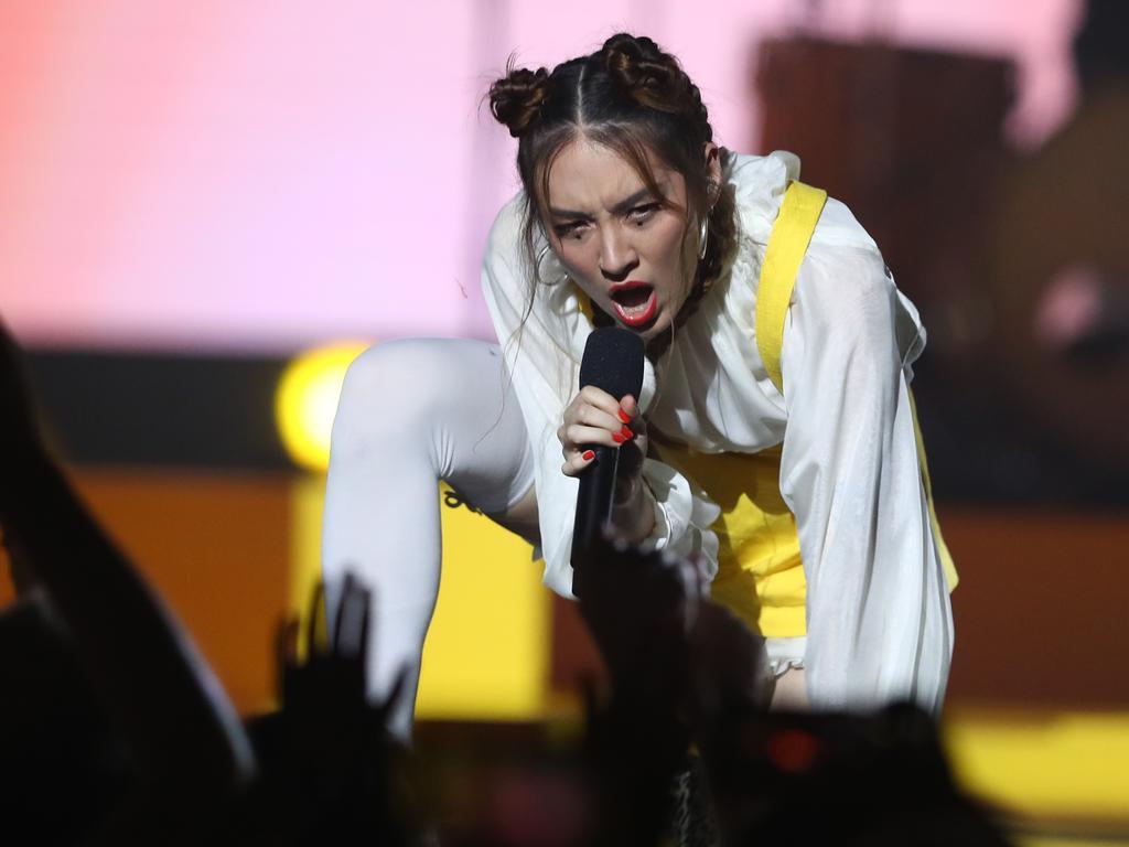 Jaguar Jonze performs during Eurovision - Australia Decides. Picture: Chris Hyde/Getty