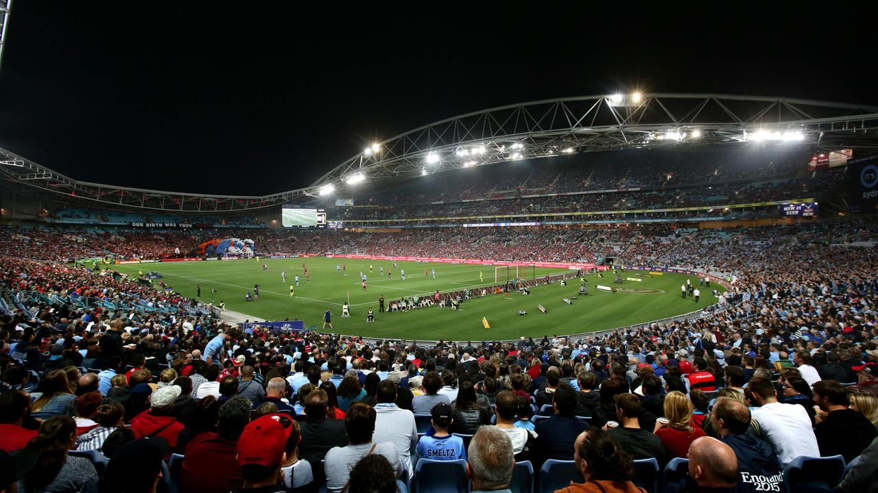 The Sydney derby was once the hottest ticket in town. Picture by Gregg Porteous.